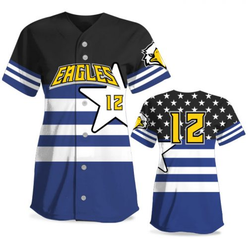 Custom Sublimated Elite United We Stand FP Jersey SS Full-Button