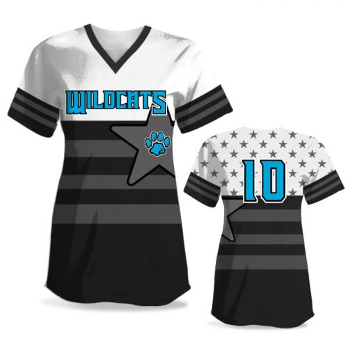 Custom Sublimated Elite United We Stand FP Jersey SS No-Button