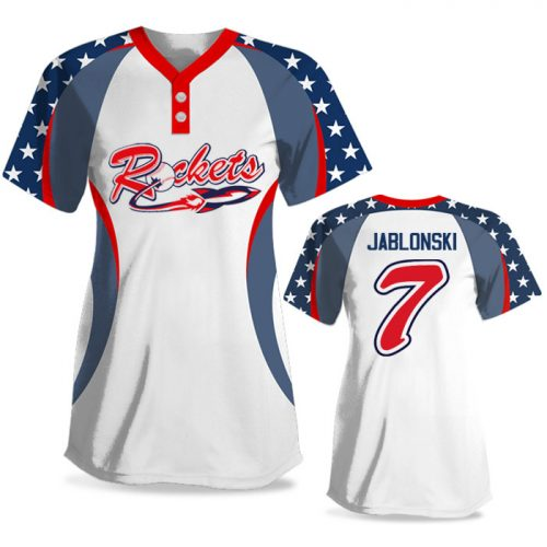 Custom Sublimated Elite We the People FP Jersey SS 2-Button