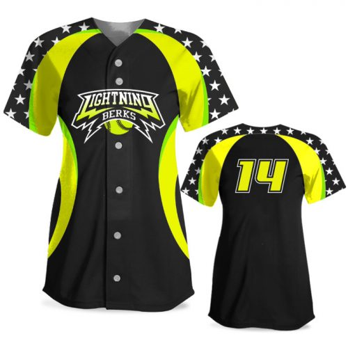 Custom Sublimated Elite We the People FP Jersey SS Full-Button