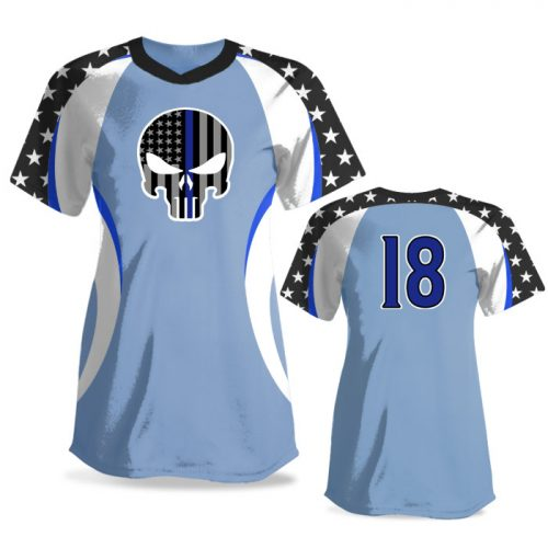Custom Sublimated Elite We the People FP Jersey SS No-Button