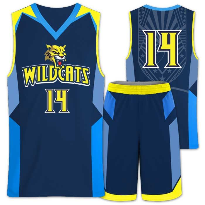 Elite Wildcat Custom Basketball Uniform