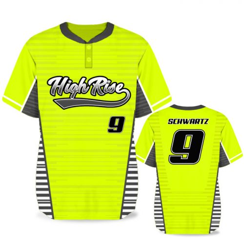 Custom Sublimated Elite Yardstick BB Jersey SS 2-Button