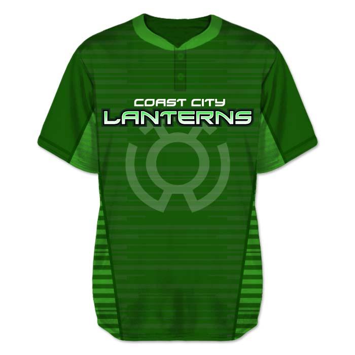 Justice League Green Lantern Inspired Baseball Jersey