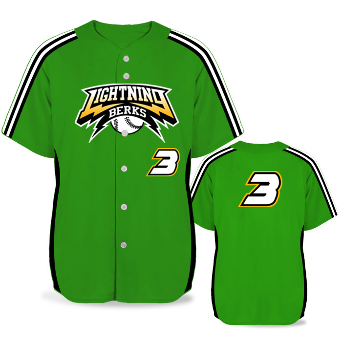 Custom Sublimated Elite Iconic BB Jersey SS Full-Button