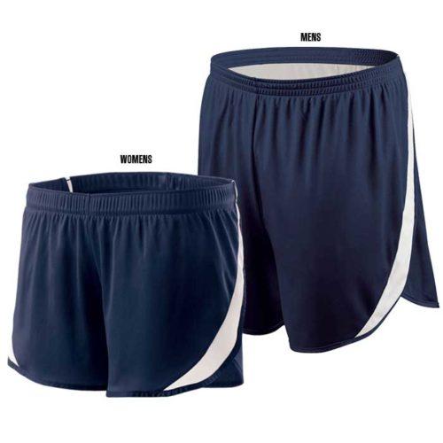 Navy Blue Floor It Track Uniform Shorts