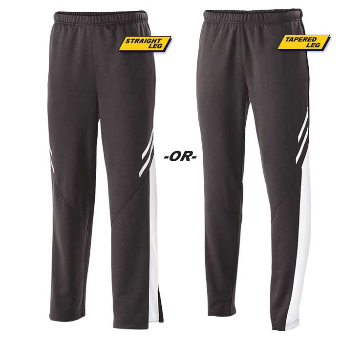 Black and White Flux Warmup Pants