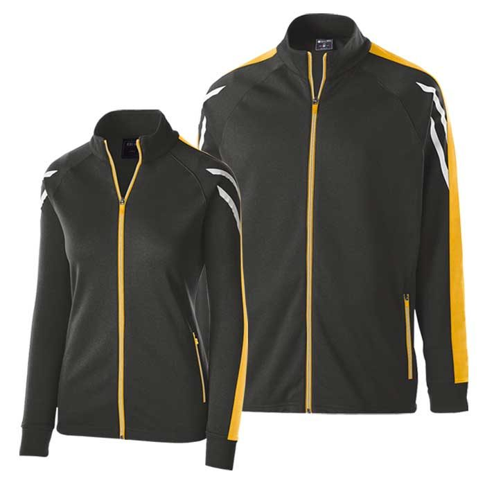 Black and Athletic Gold Flux Warmup Jacket