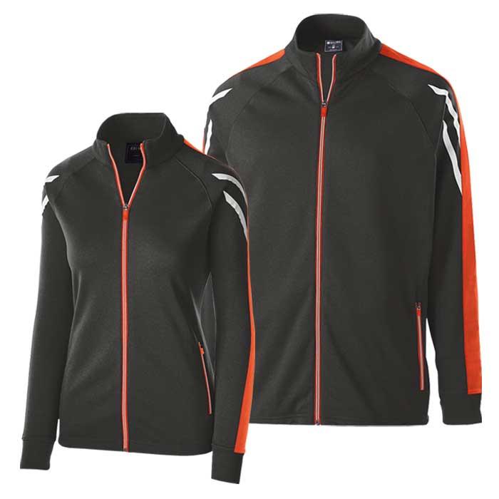 Black and Orange Flux Warmup Jacket