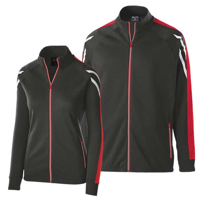 Black and Red Flux Warmup Jacket