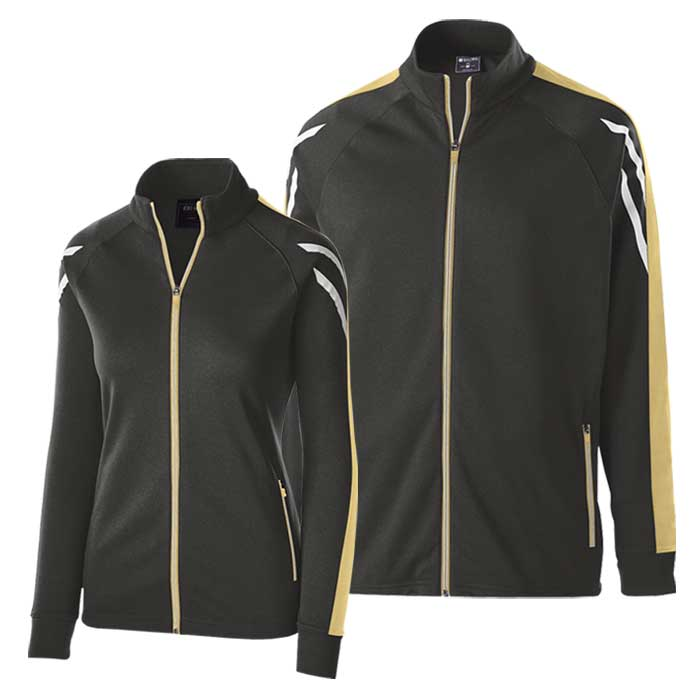 Black and Vegas Gold Flux Warmup Jacket