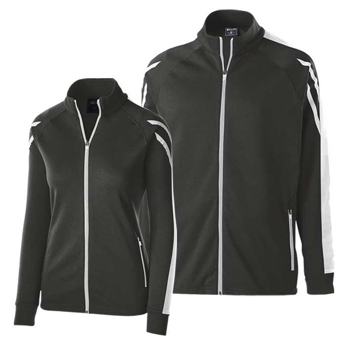 Black and White Flux Warmup Jacket