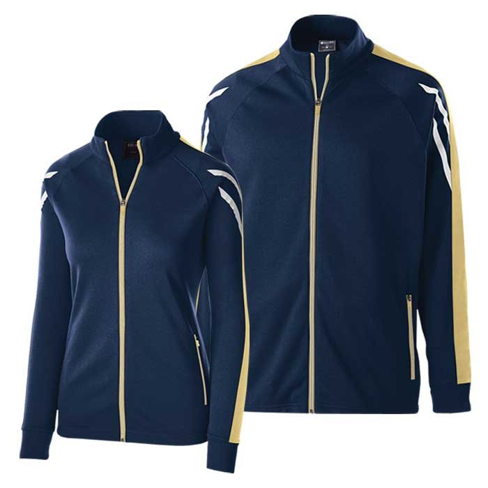 Navy Blue and Vegas Gold Flux Warmup Jacket
