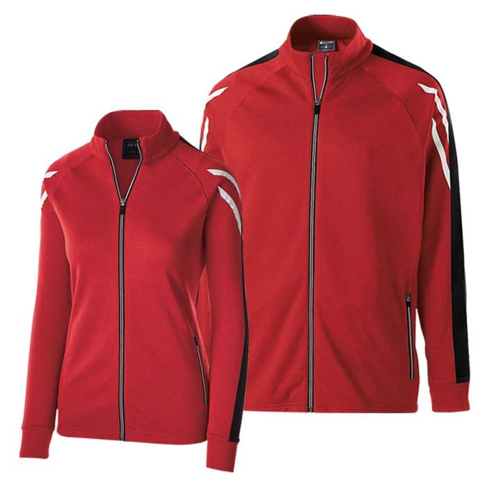 Red and Black Flux Warmup Jacket