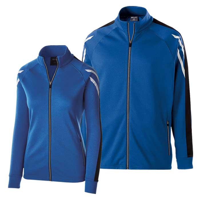 Royal Blue and Black Flux Warmup Jacket