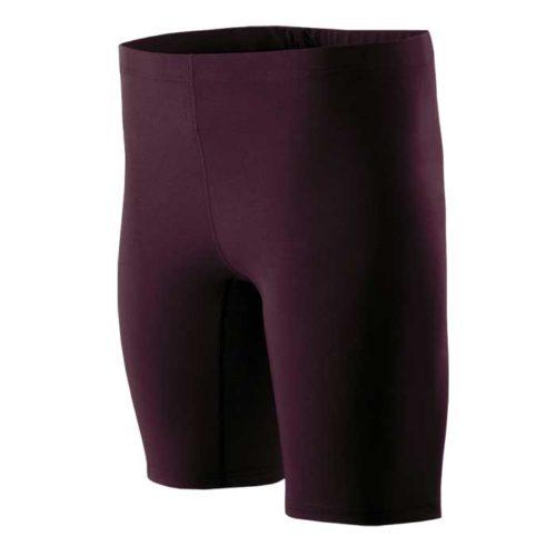 Dark Maroon Hightail Track Uniform Compression Shorts