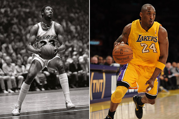 player numbers for father and son pro athletes Joe and Kobe Bryant