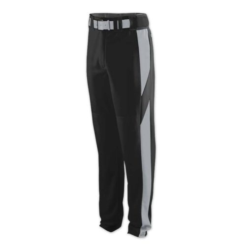 baseball pant black with grey highlight