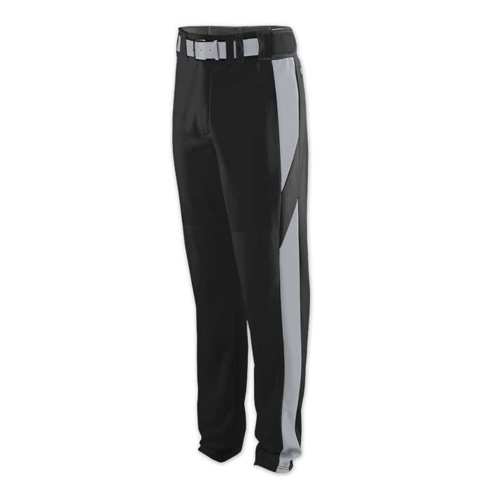baseball pant black with grey highlight