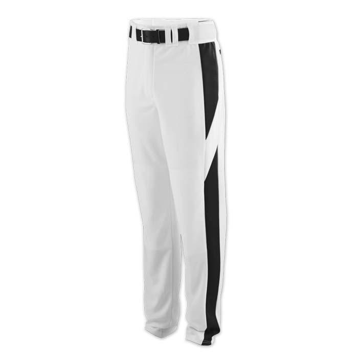 baseball pant white with black highlight