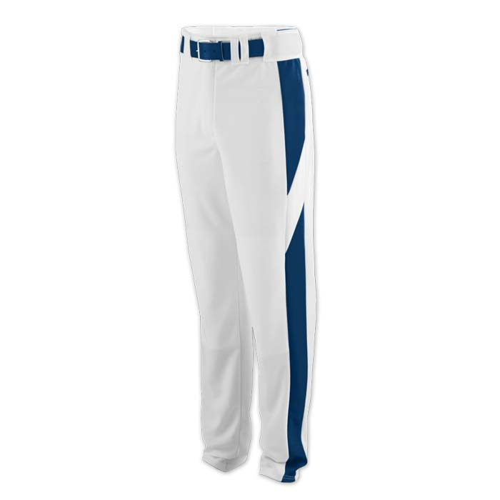 baseball pant white with navy highlight