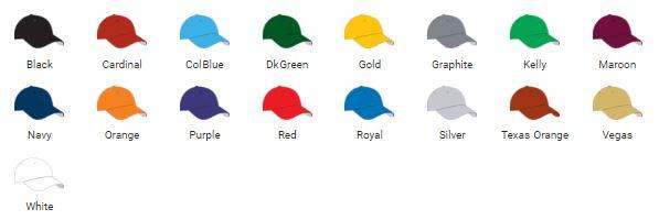 M2 PERFORMANCE ADJUSTABLE CAP COLORS
