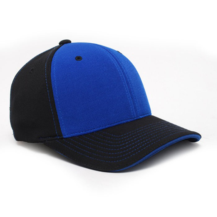 M2 embroidered performance cap black royal