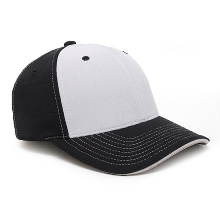M2 embroidered performance cap black silver