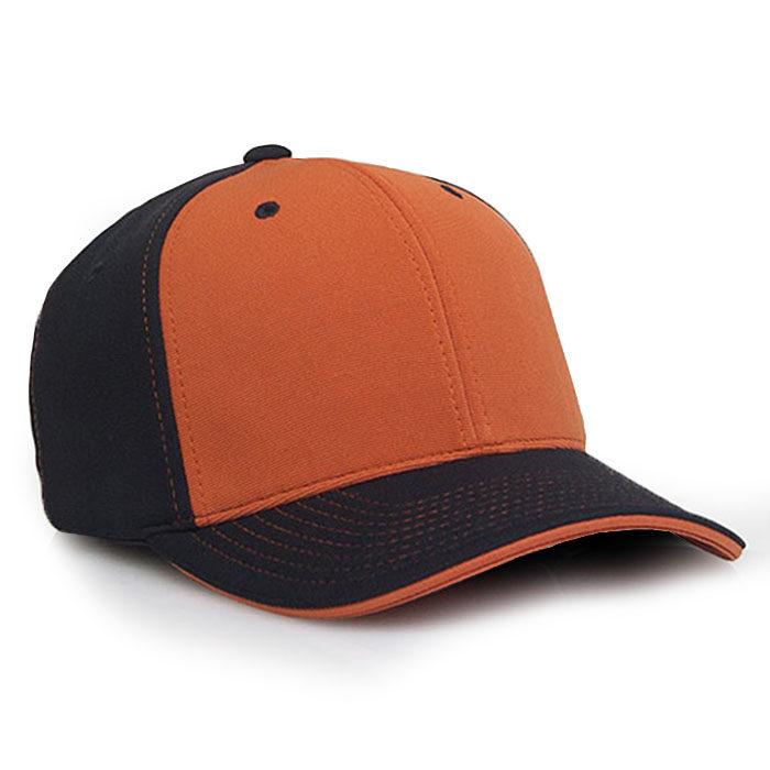 M2 embroidered performance cap black texas orange
