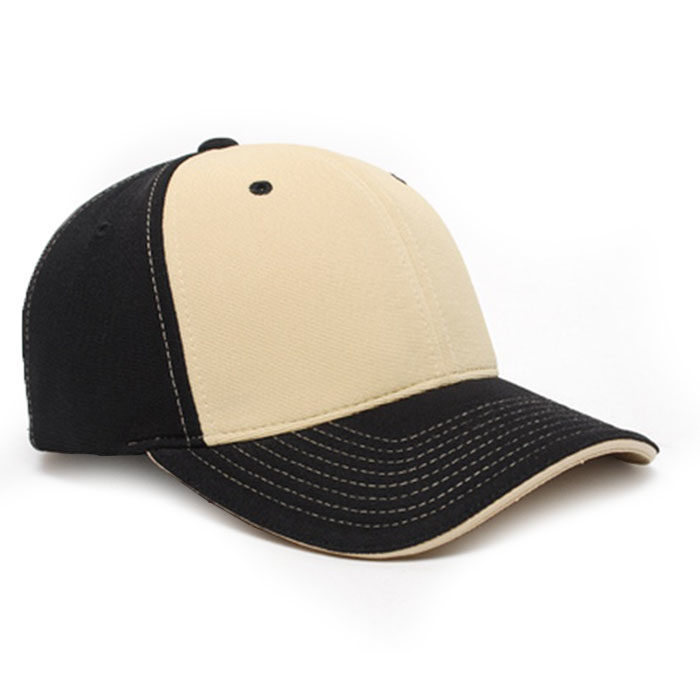 M2 embroidered performance cap black vegas gold