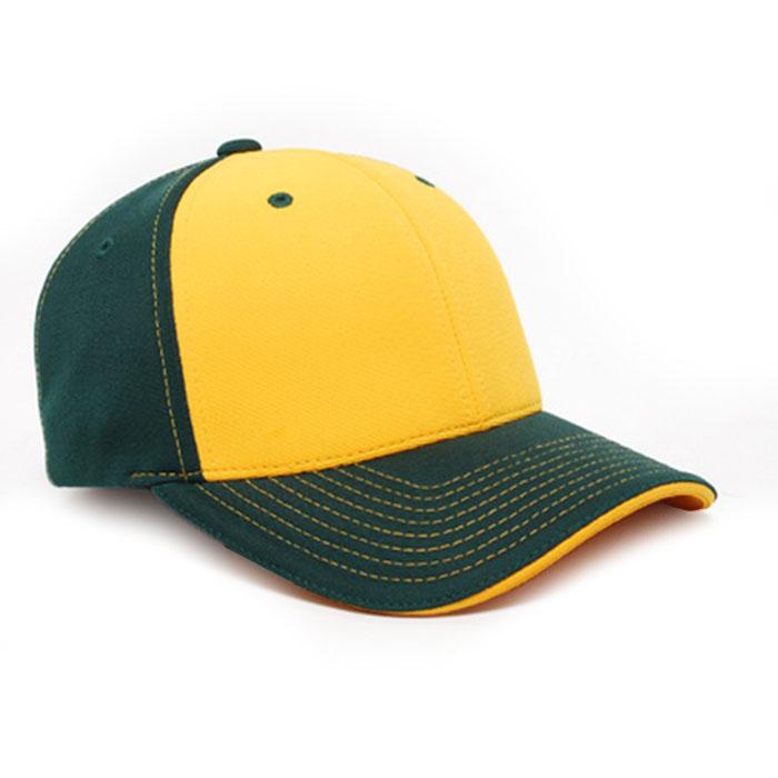 M2 embroidered performance cap dark green gold