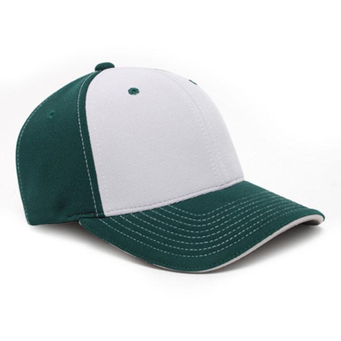M2 embroidered performance cap dark green silver