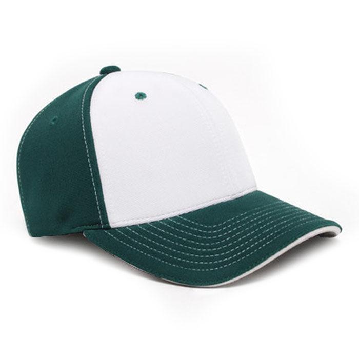 M2 embroidered performance cap dark green white