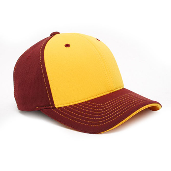 M2 embroidered performance cap maroon gold