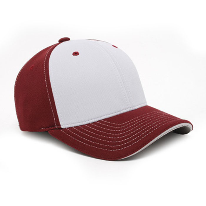 M2 embroidered performance cap maroon silver