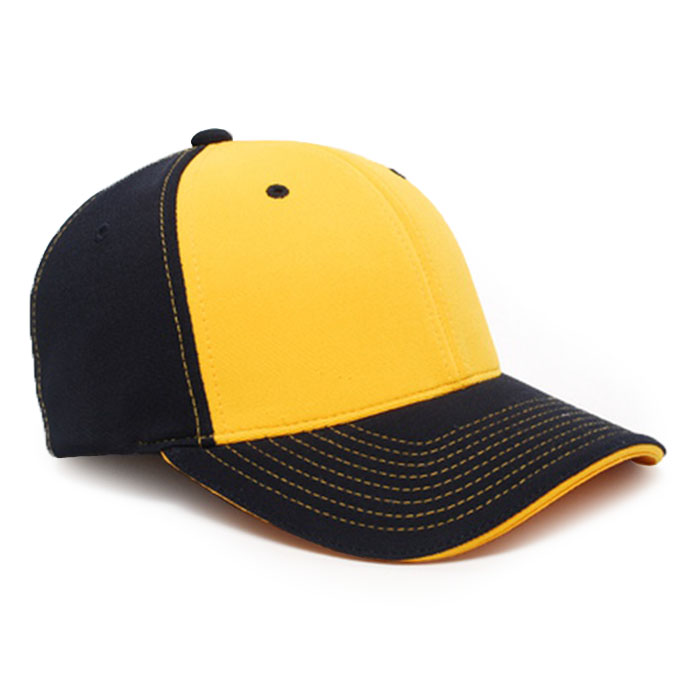 M2 embroidered performance cap navy gold