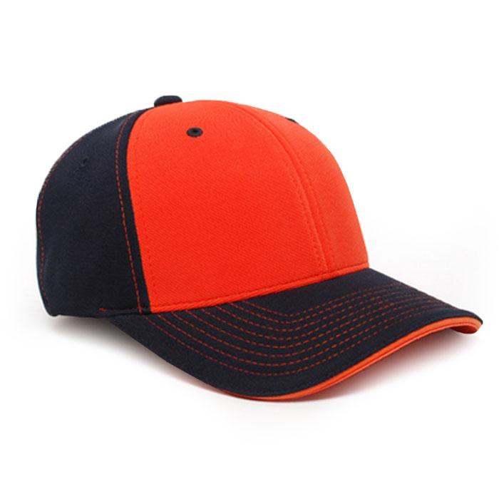 M2 embroidered performance cap navy orange