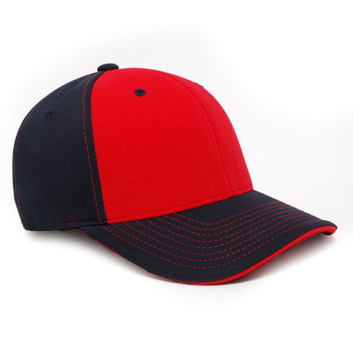 M2 embroidered performance cap navy red
