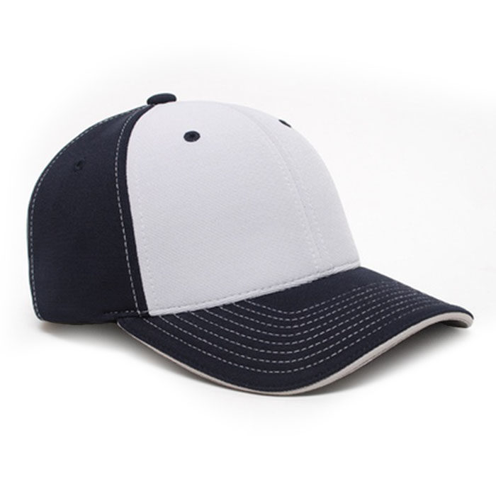 M2 embroidered performance cap navy silver