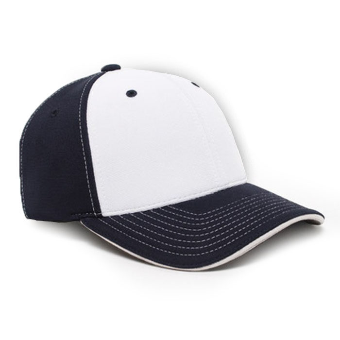 M2 embroidered performance cap navy white