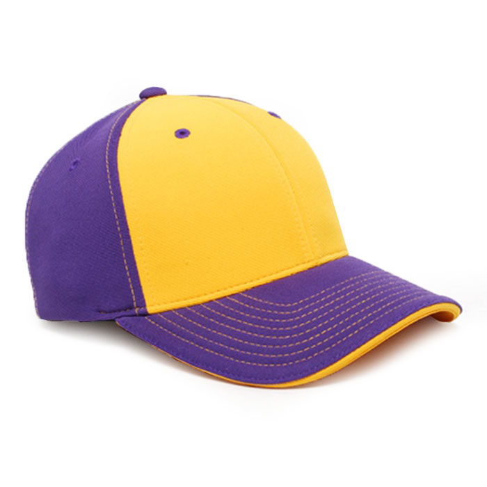 M2 embroidered performance cap purple gold