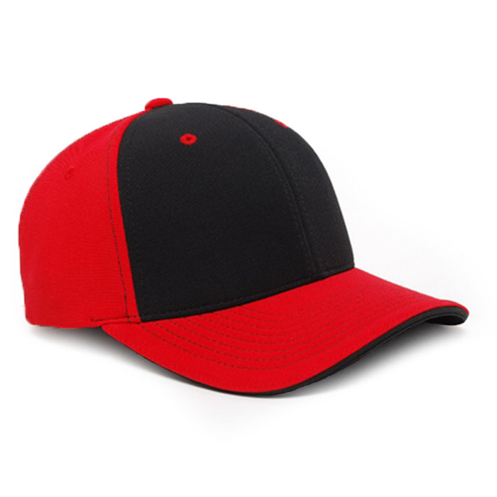 M2 embroidered performance cap red black