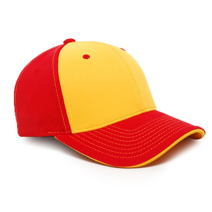 M2 embroidered performance cap red gold