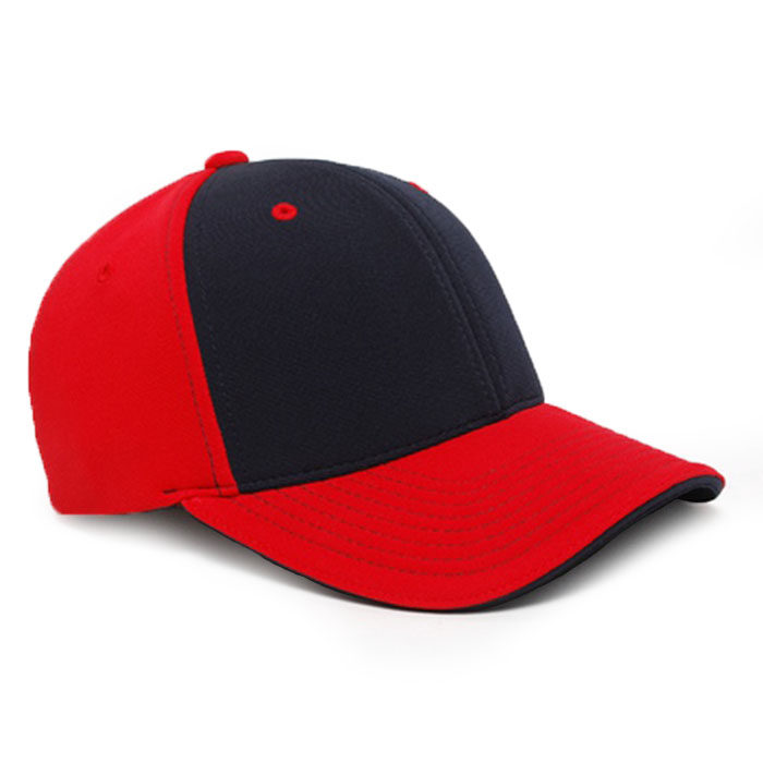 M2 embroidered performance cap red navy