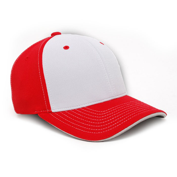 M2 embroidered performance cap red silver