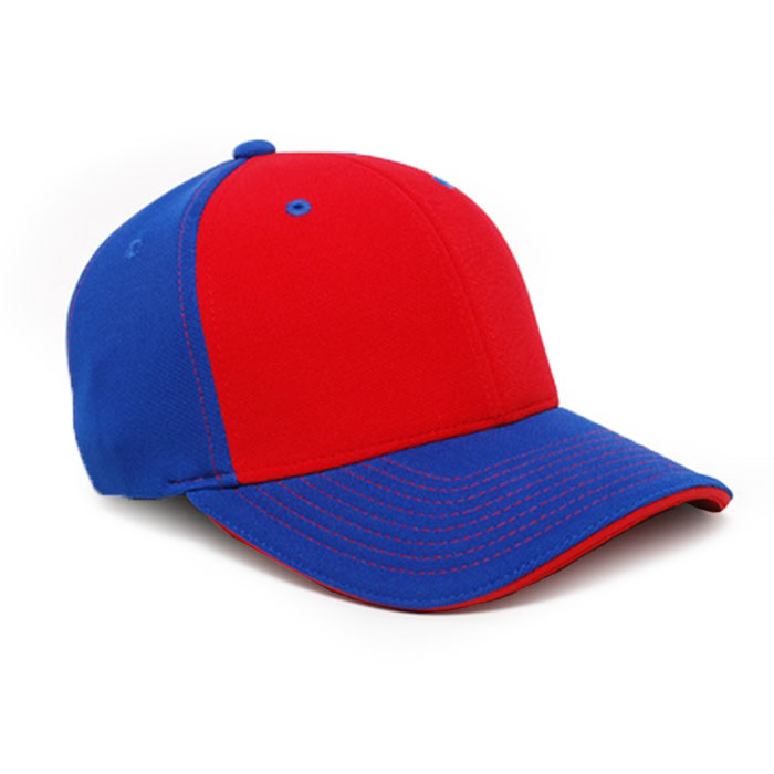 M2 embroidered performance cap royal red
