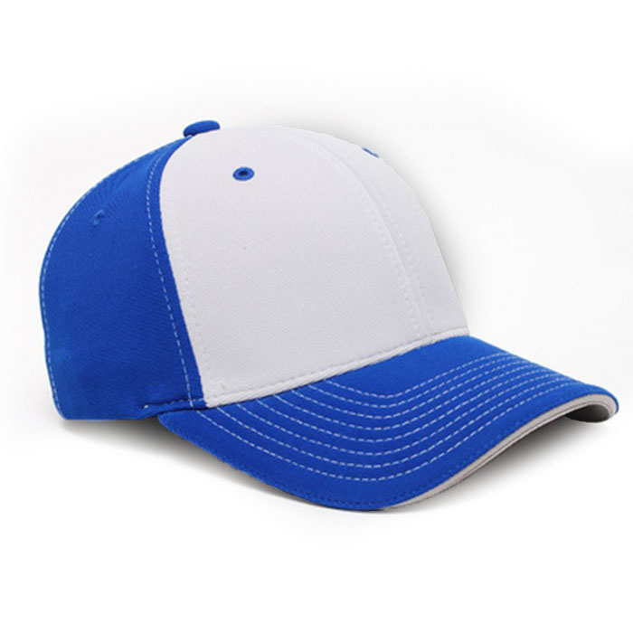 M2 embroidered performance cap royal silver