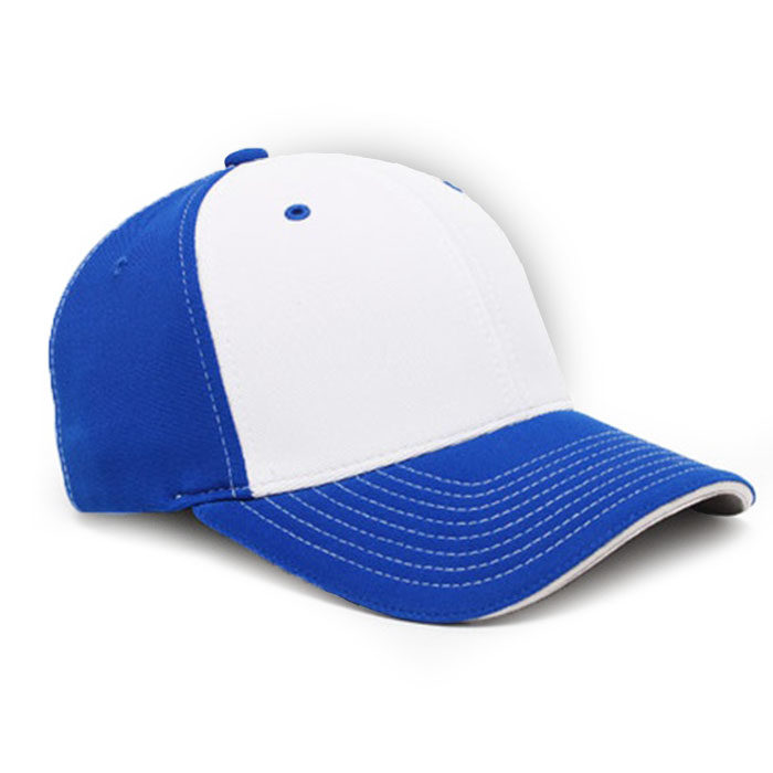 M2 embroidered performance cap royal white