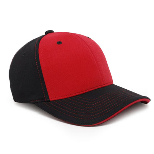 M2 embroidered performance cap black cardinal