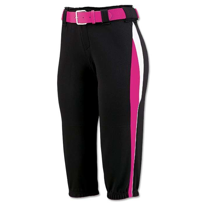 This is the Mystic Pant in Black, Power Pink, White